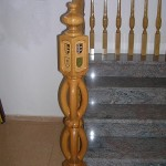 Arranque de madera con escudos