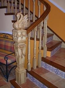 Barandilla de escalera estilo Aragon
