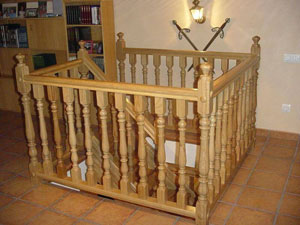 Barandilla madera Balaustres modelo M