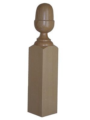 Cabeza de pilastra de madera forma bellota