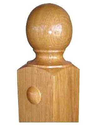 Cabeza de Pilastra forma bola redonda lisa