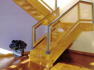 Escalera recta con barandilla de metacrilato newak dos - Como hacer escalera de madera ...